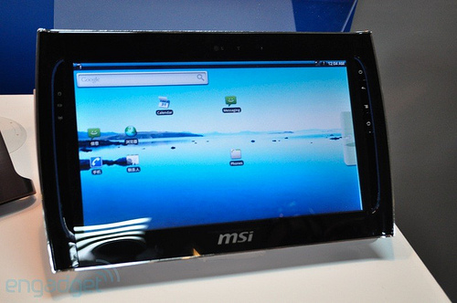 Windpad110 MSI WindPad 110: another Android Tablet using Tegra2 debutes at the 2010 Computex