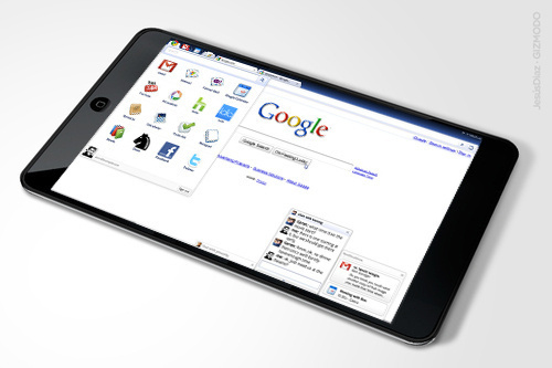 tablet chrome Partnership between HTC and Google for a new android tablet
