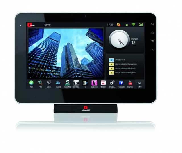 olipad android tablet1 640x538 Olivetti Releases Italys First Android Tablet: The OliPad